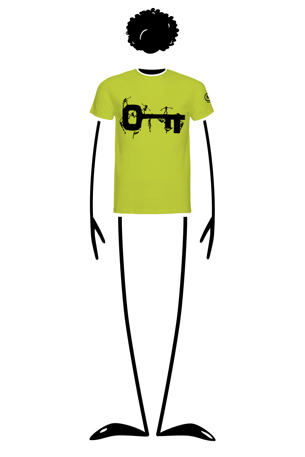t-shirt homme lime HASH Monvic