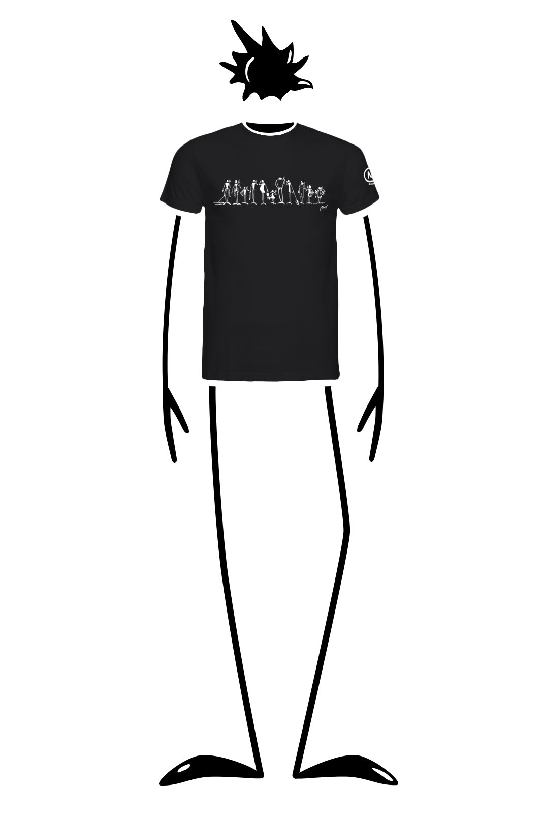 t-shirt men black HASH Monvic iphone