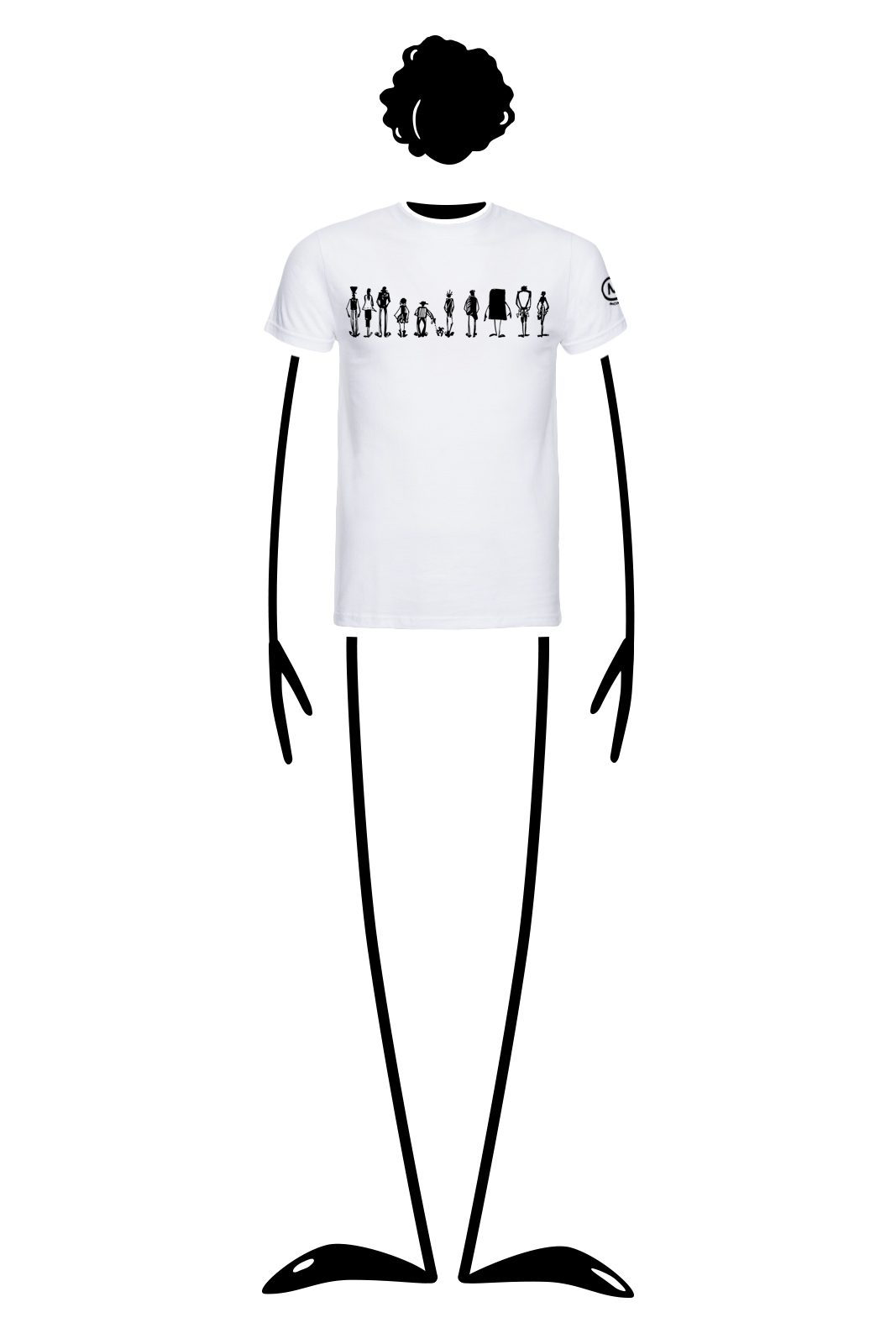 t-shirt men white HASH Monvic