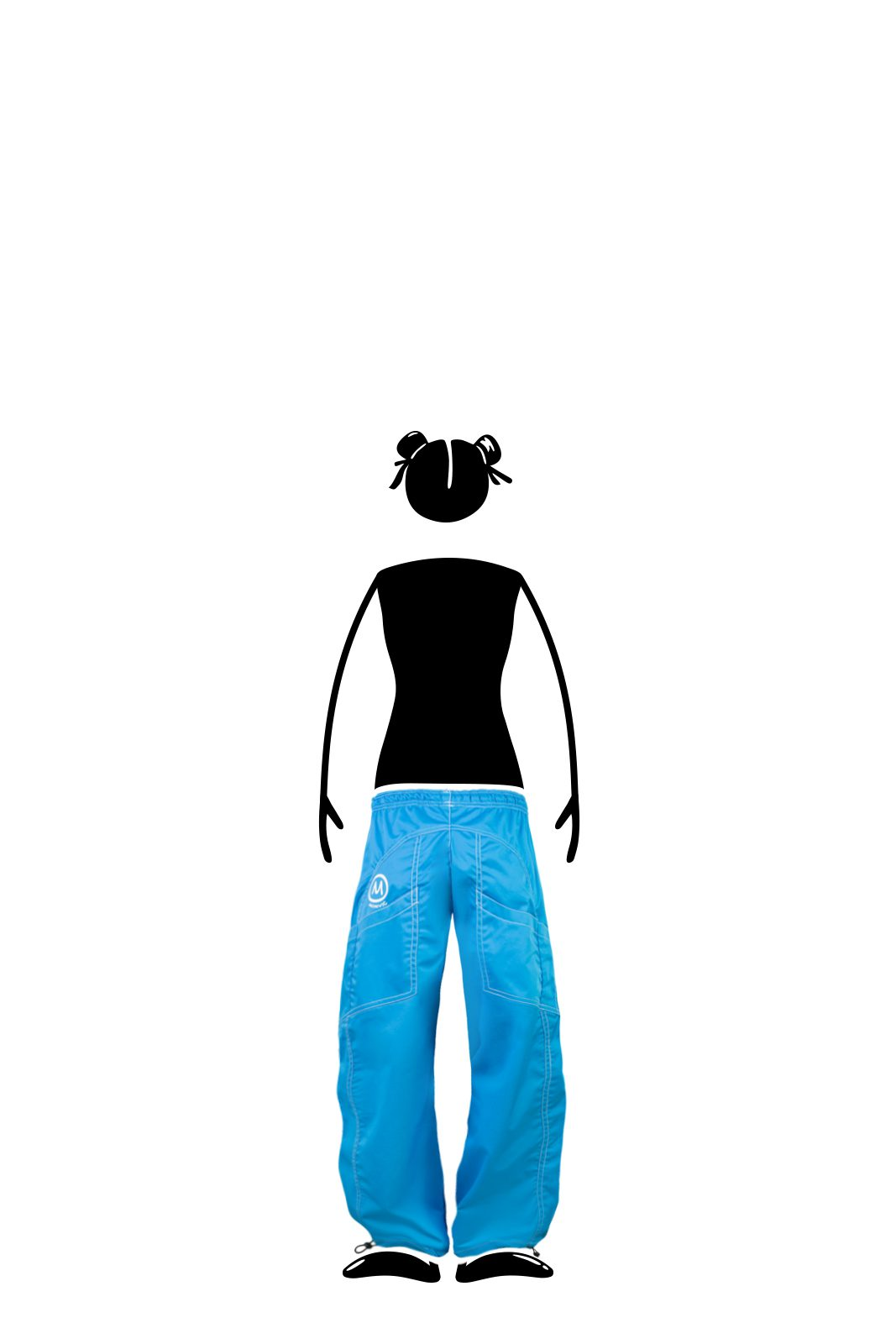 sport trousers for kids turquoise - stretch cotton - climbing and sport - MINI SPEED Monvic