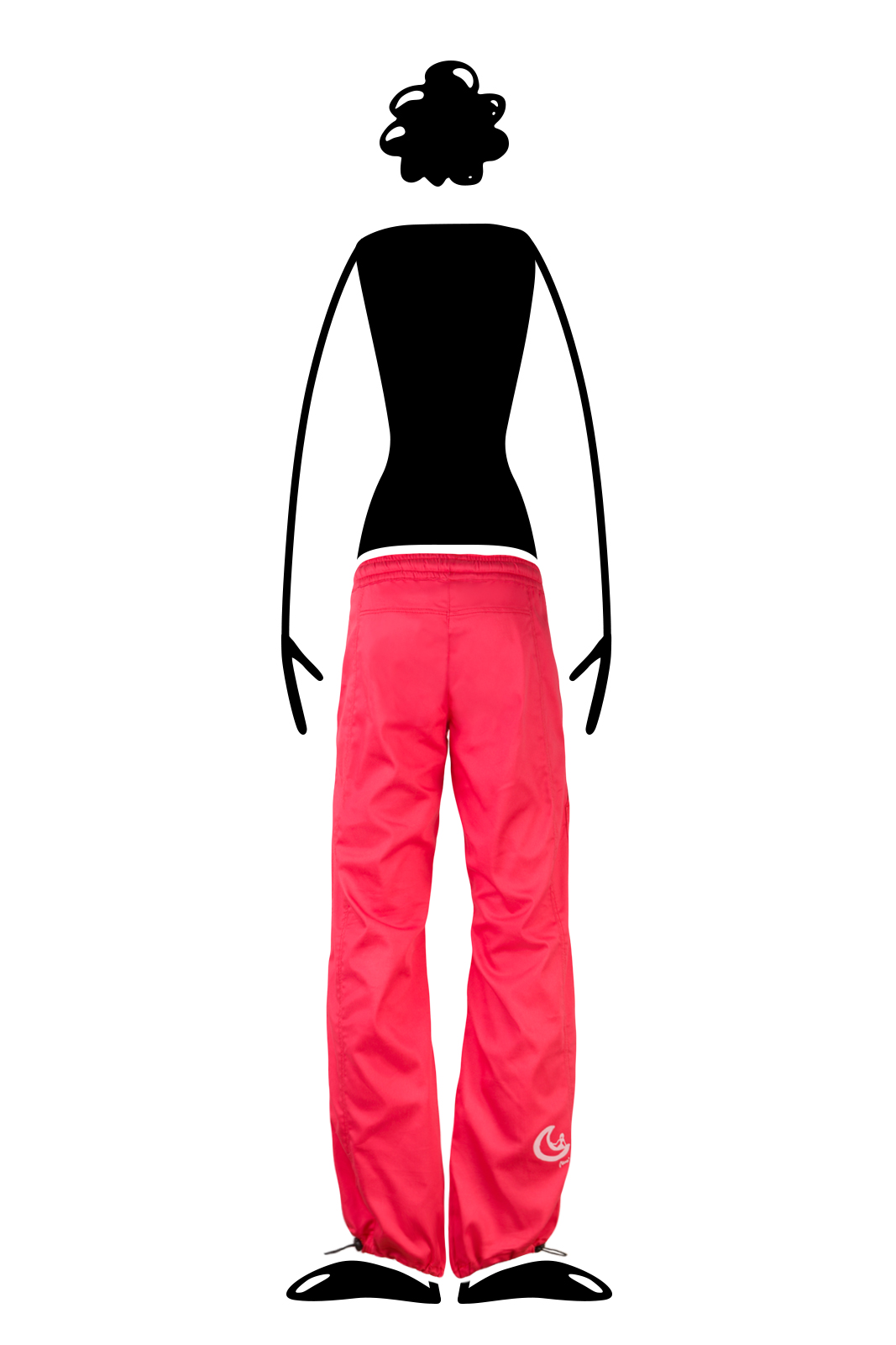 trousers women red VIOLET Monvic