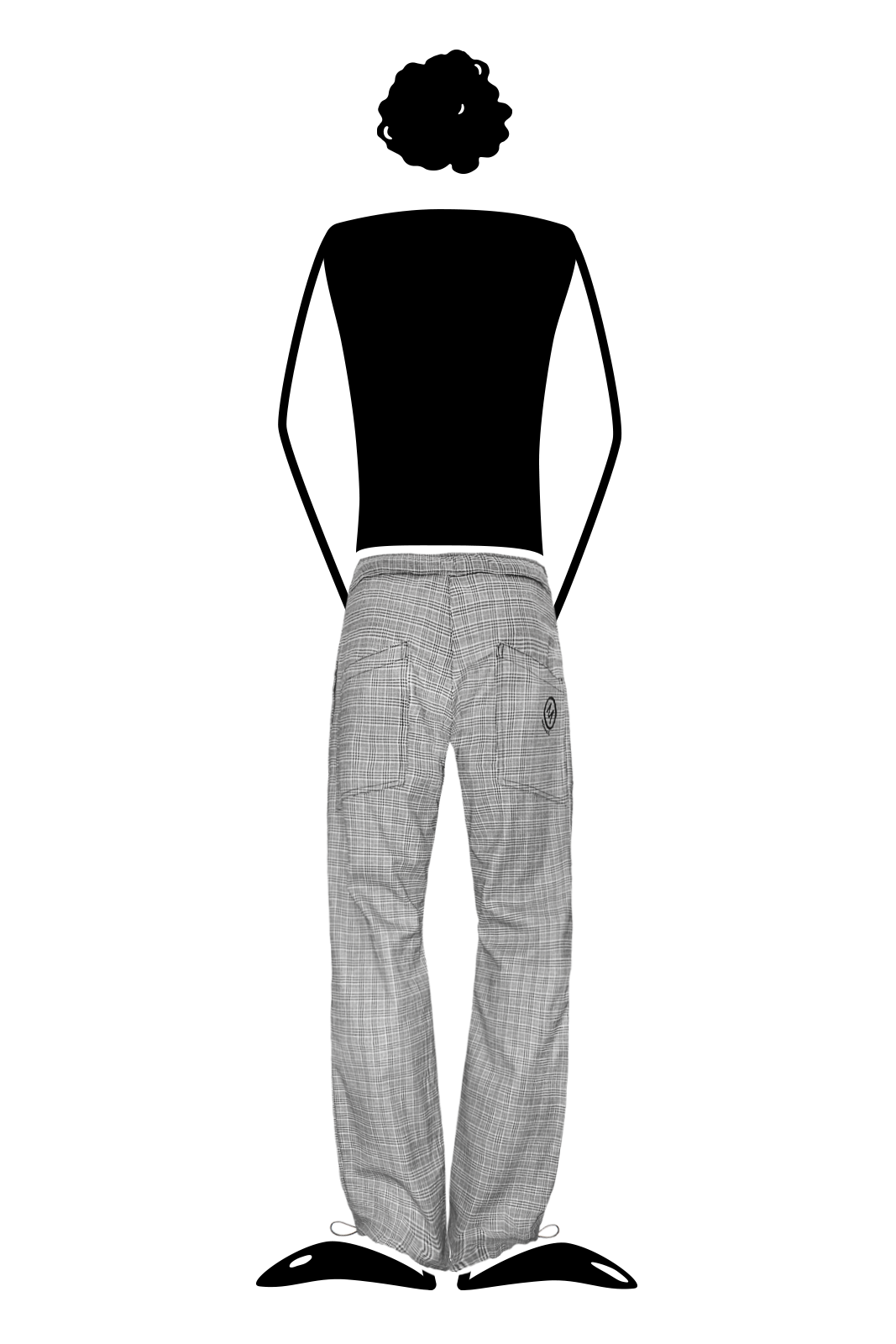 pantalone uomo prince of wales grey per arrampicata, hiking, sport BILLY Monvic
