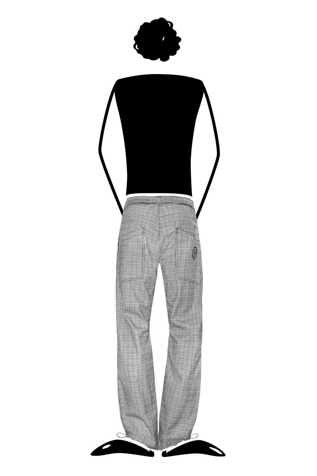 trousers men Prince of Wales grey BILLY Monvic climbing