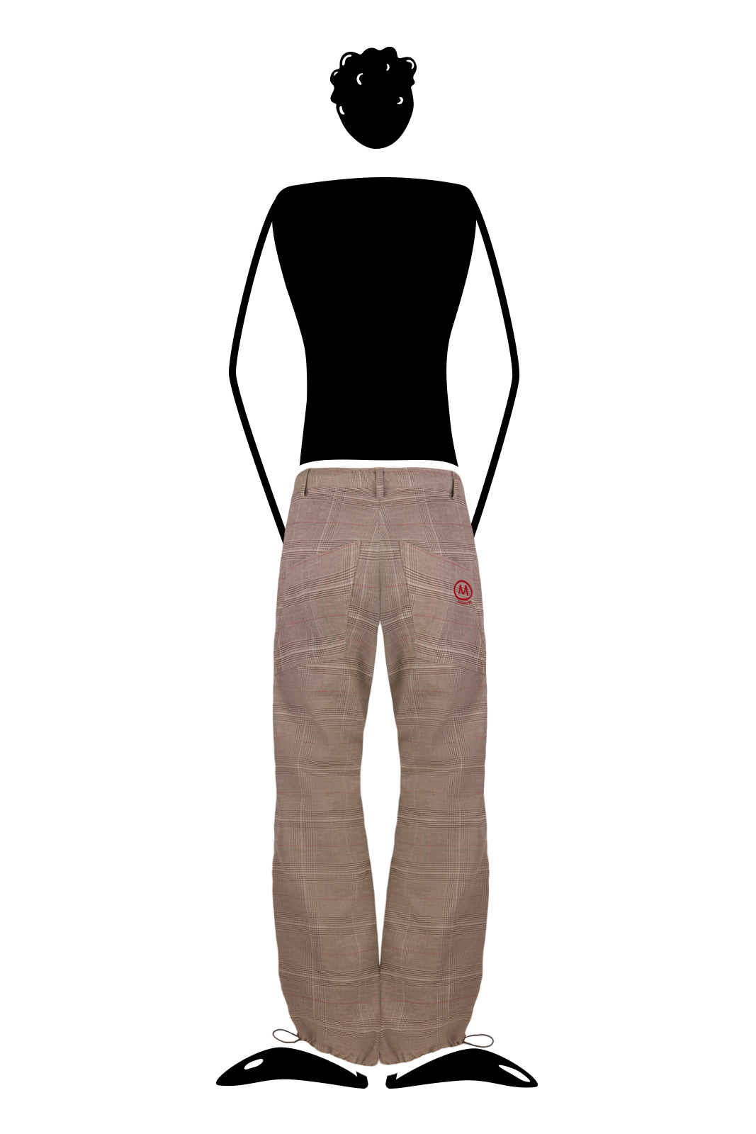 trousers men Prince of Wales sand BILLY 2 Monvic climbing