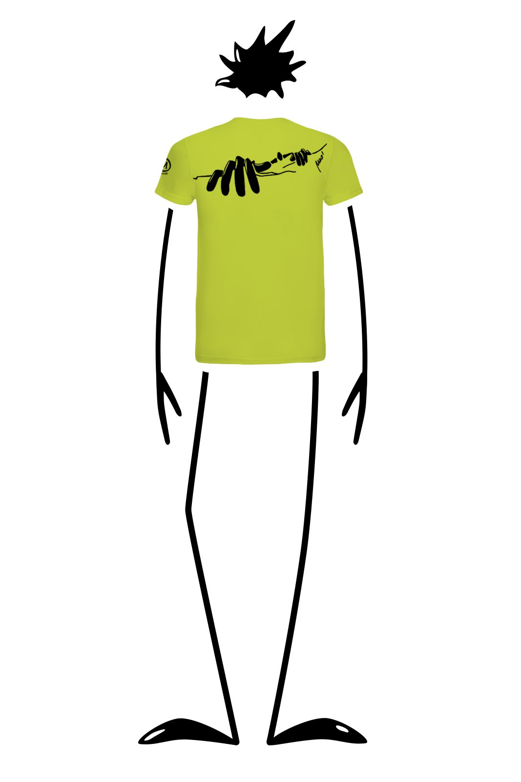 t-shirt homme lime HASH Monvic escalade