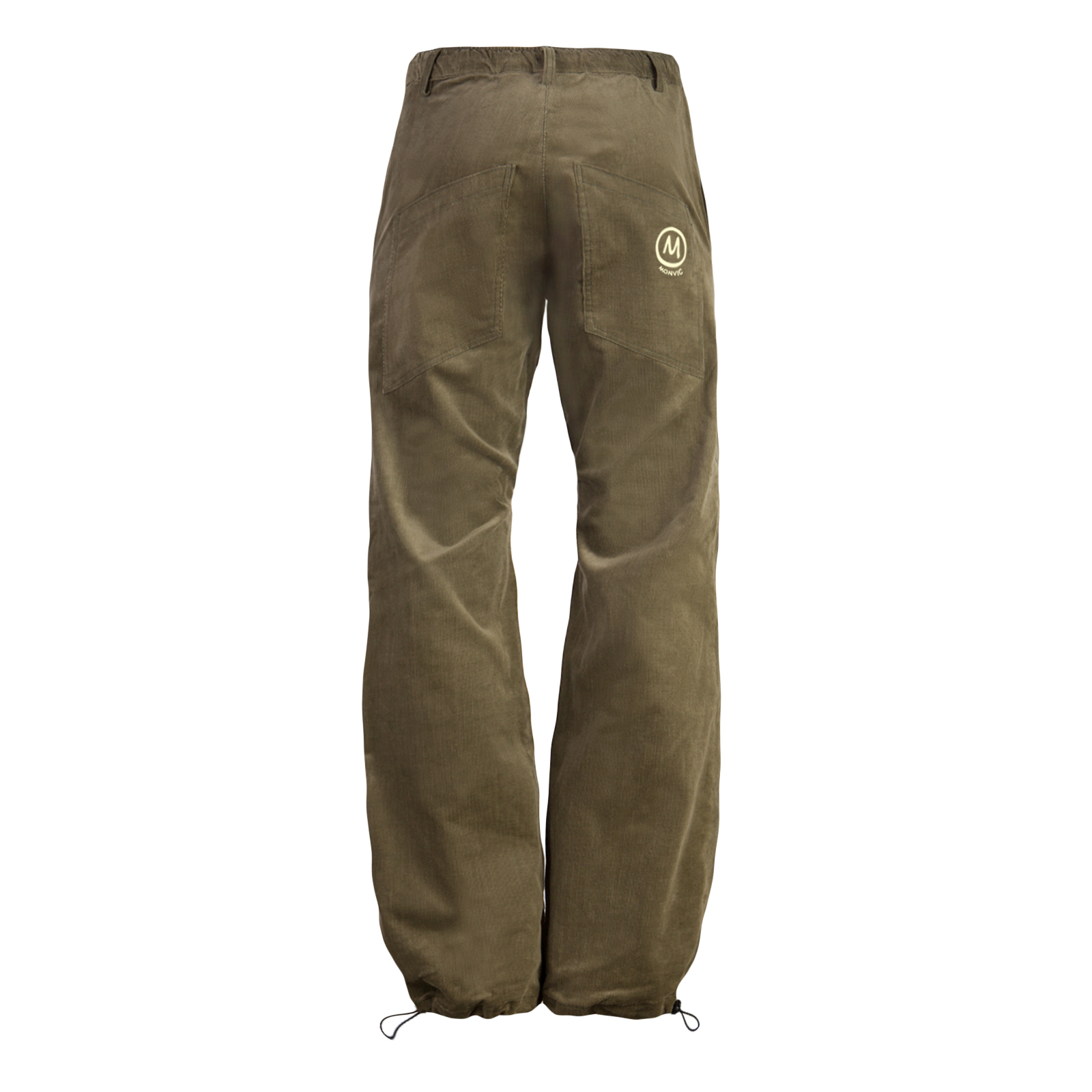 Fine ribbed corduroy trousers for men brown green army GRILLO Monvic for climbing