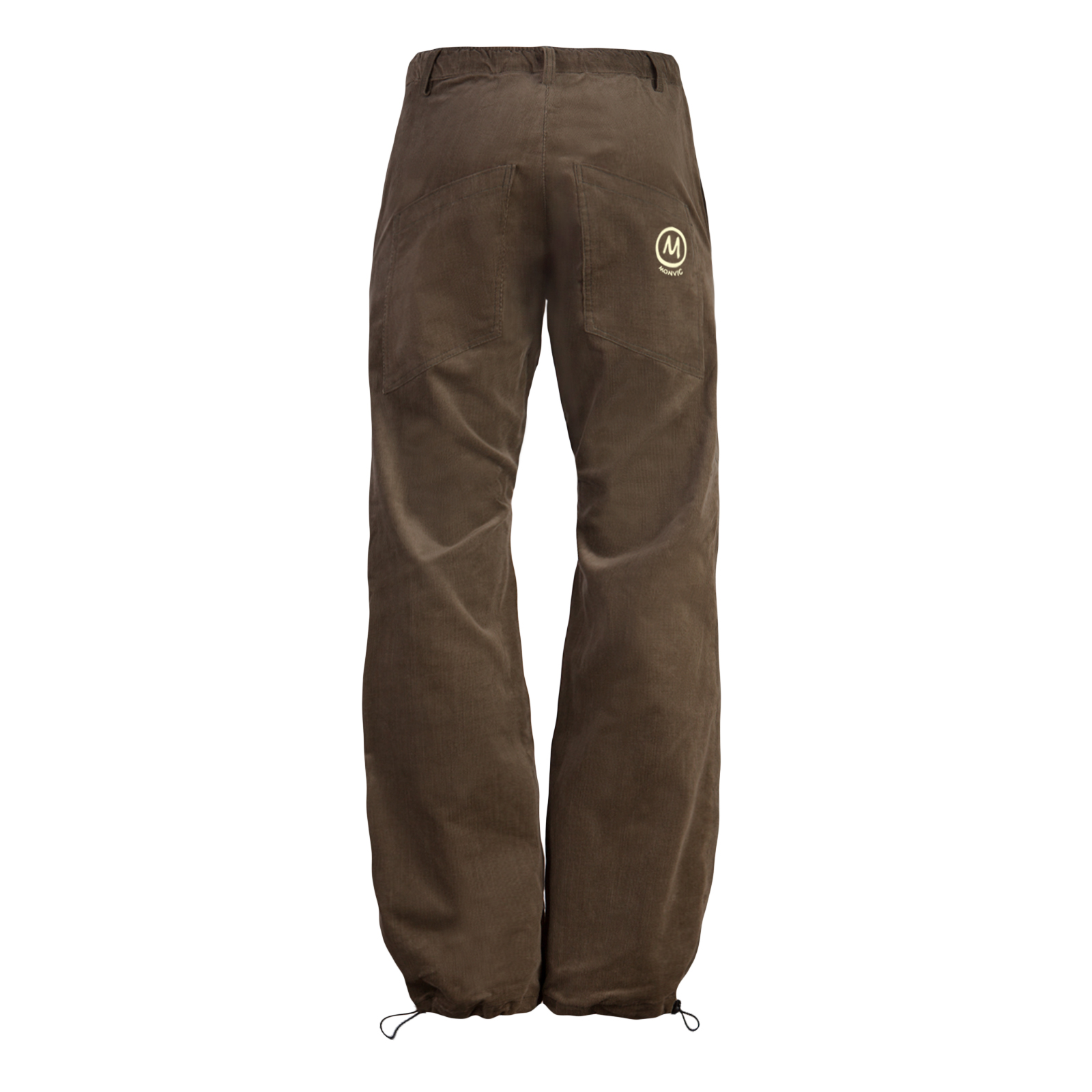 Fine ribbed corduroy pants for men brown GRILLO Monvic for climbing