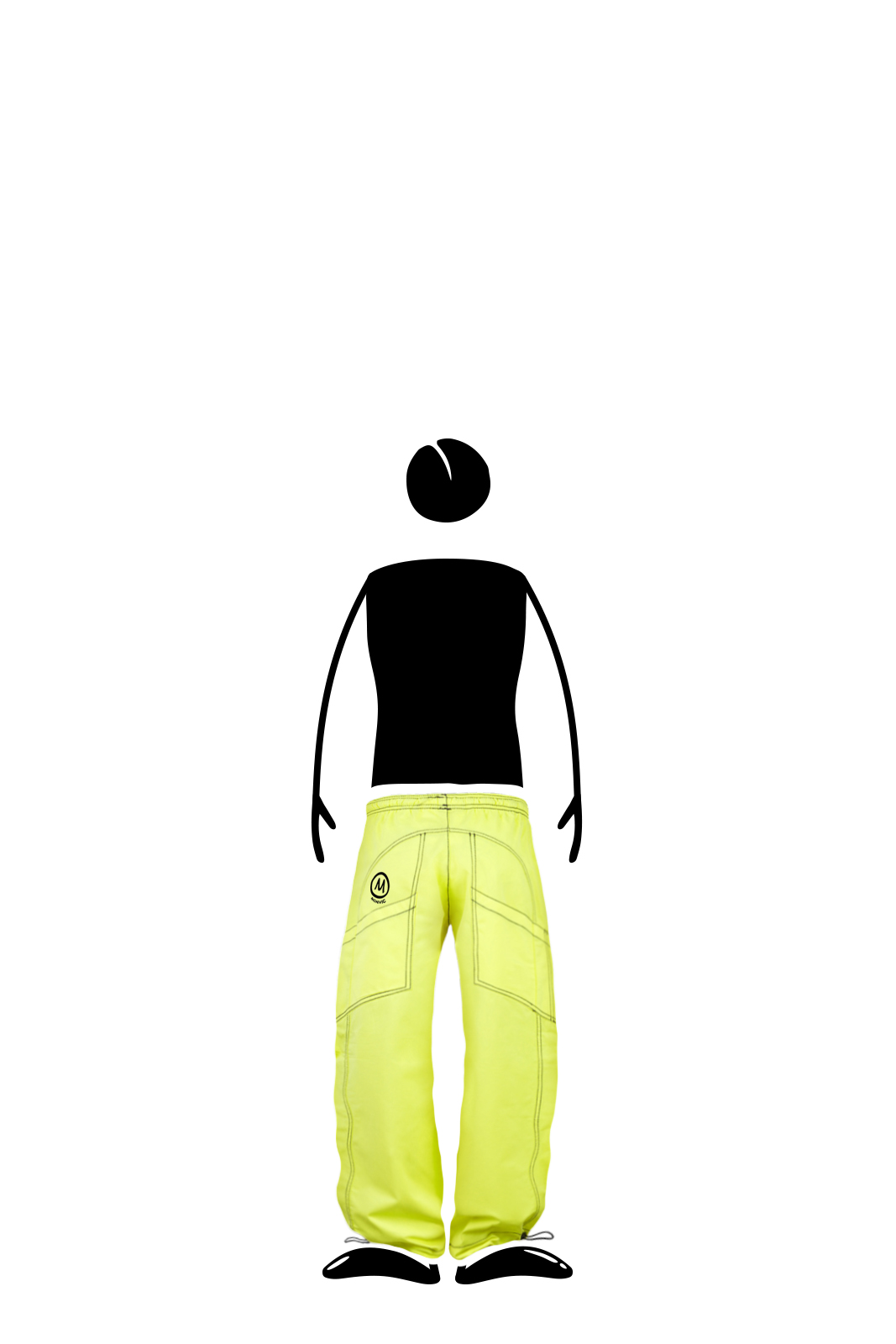 pantalone sport bambino verde lime MINI SPEED