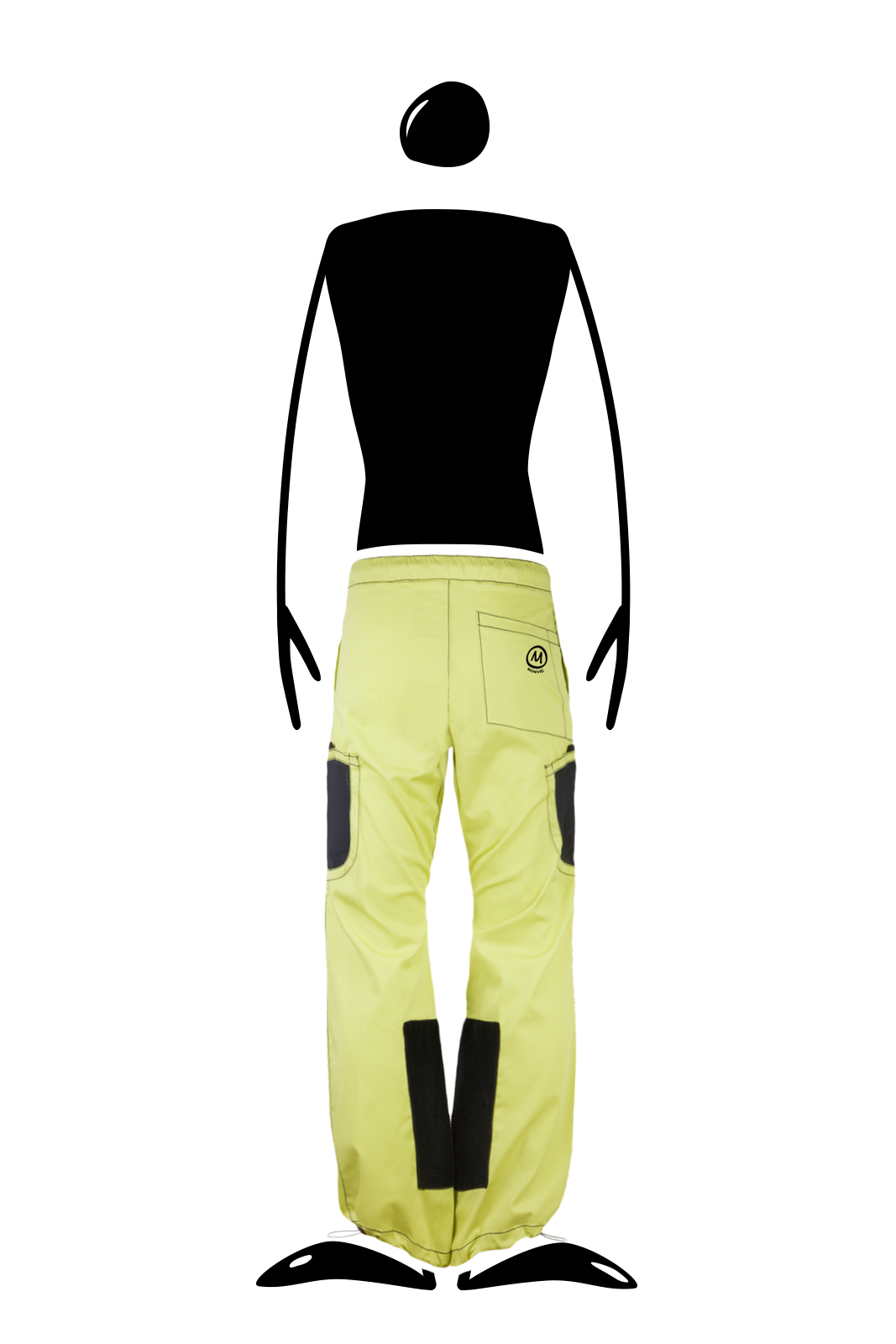 climbing trousers with integrated magnesite pockets lime POWDER Monvic