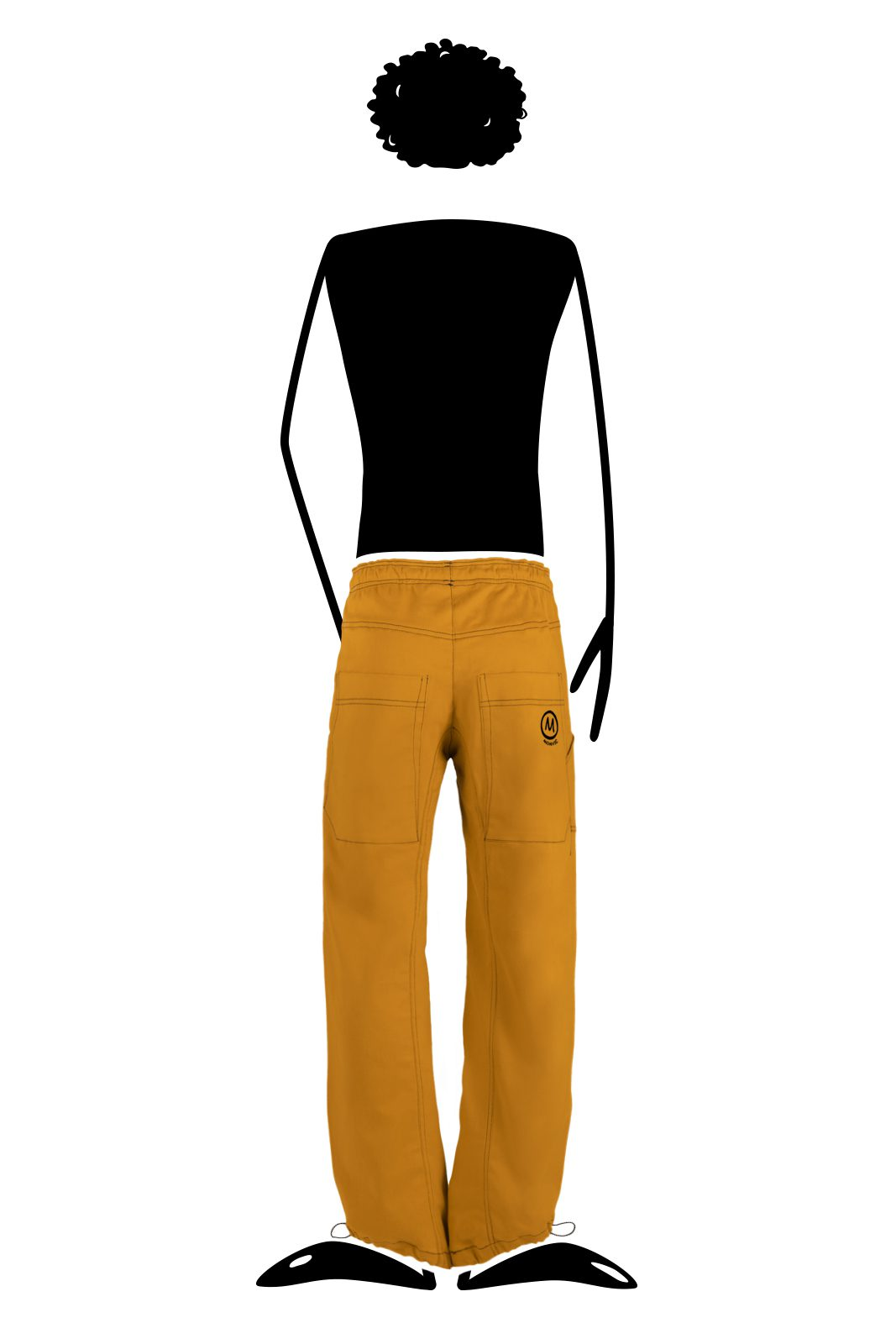 Men's Sports trousers yellow ocher extra-light JIMMY Monvic