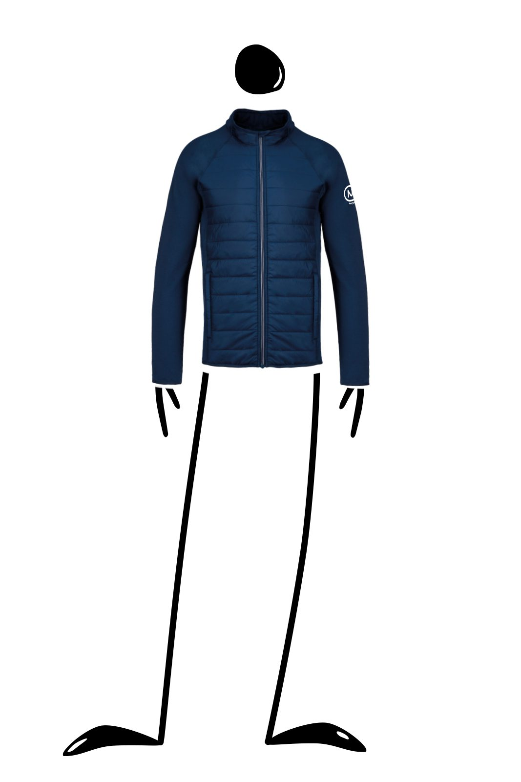 Waterproof unisex jacket blue navy for men KING Monvic