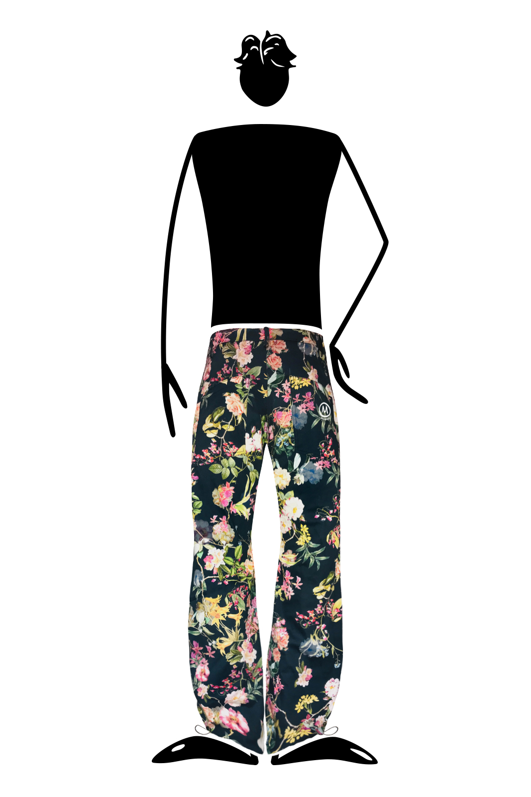 trousers men floral print yellow BILLY 2 Monvic climbing