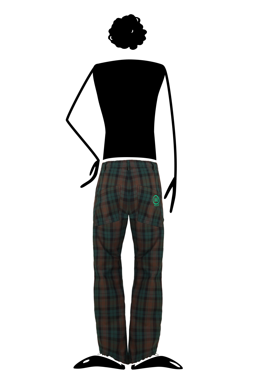 trousers men Prince of Wales petrol BILLY 2 Monvic climbing