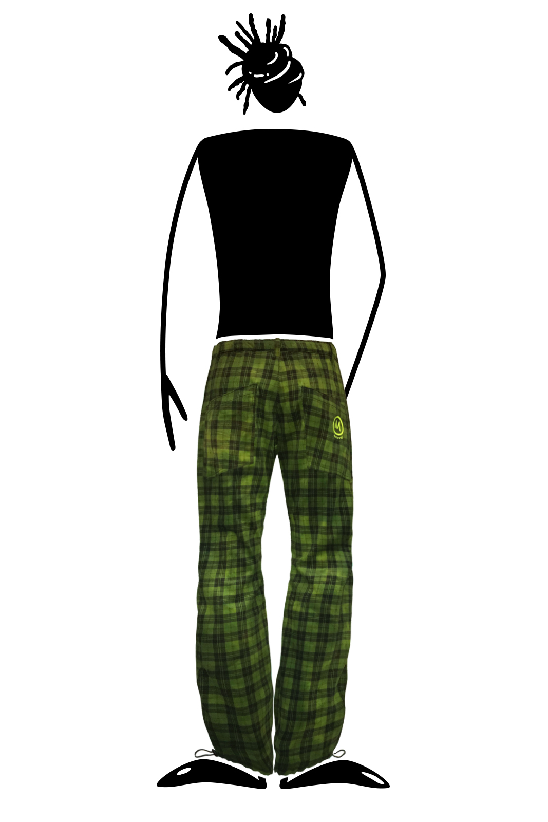 Fine ribbed corduroy pants for men prince of wales green GRILLO Monvic for climbing