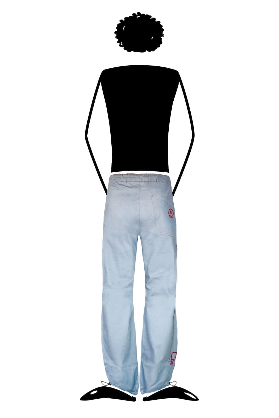 Jeans homme coutures rouge GERONIMO Monvic denim pour escalade