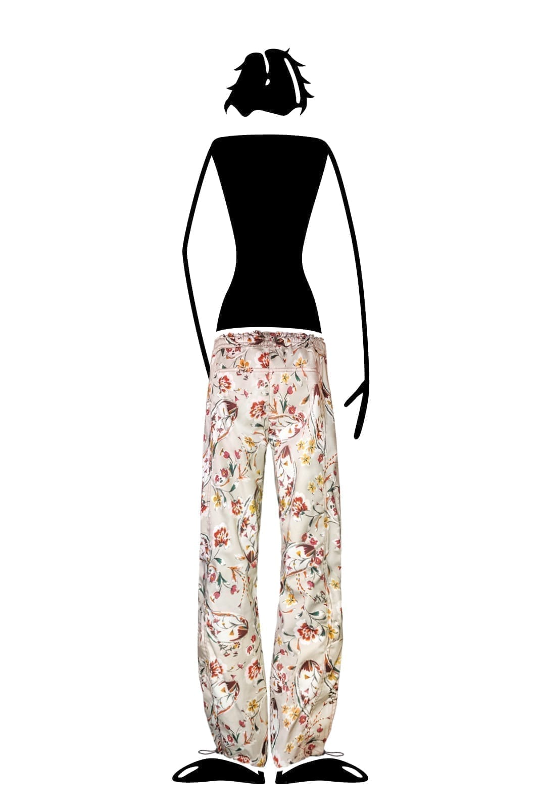 trousers women floral paisley cotton VIOLET Monvic multiflower