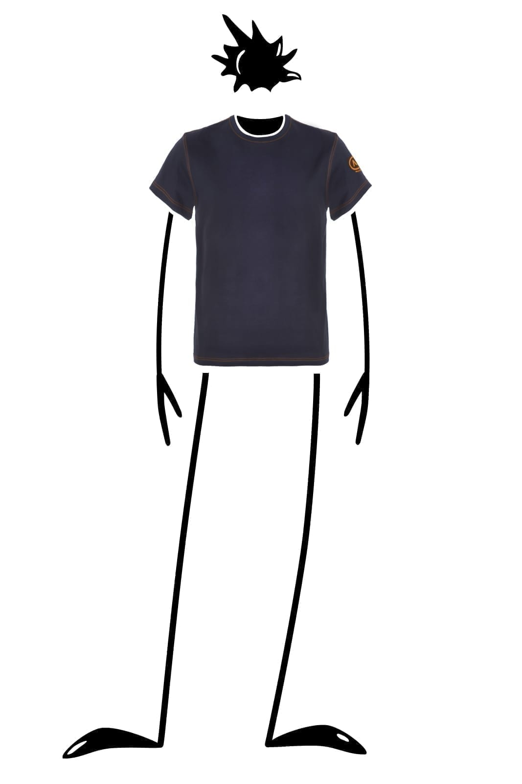 t-shirt man navy blue DOUBLE Monvic