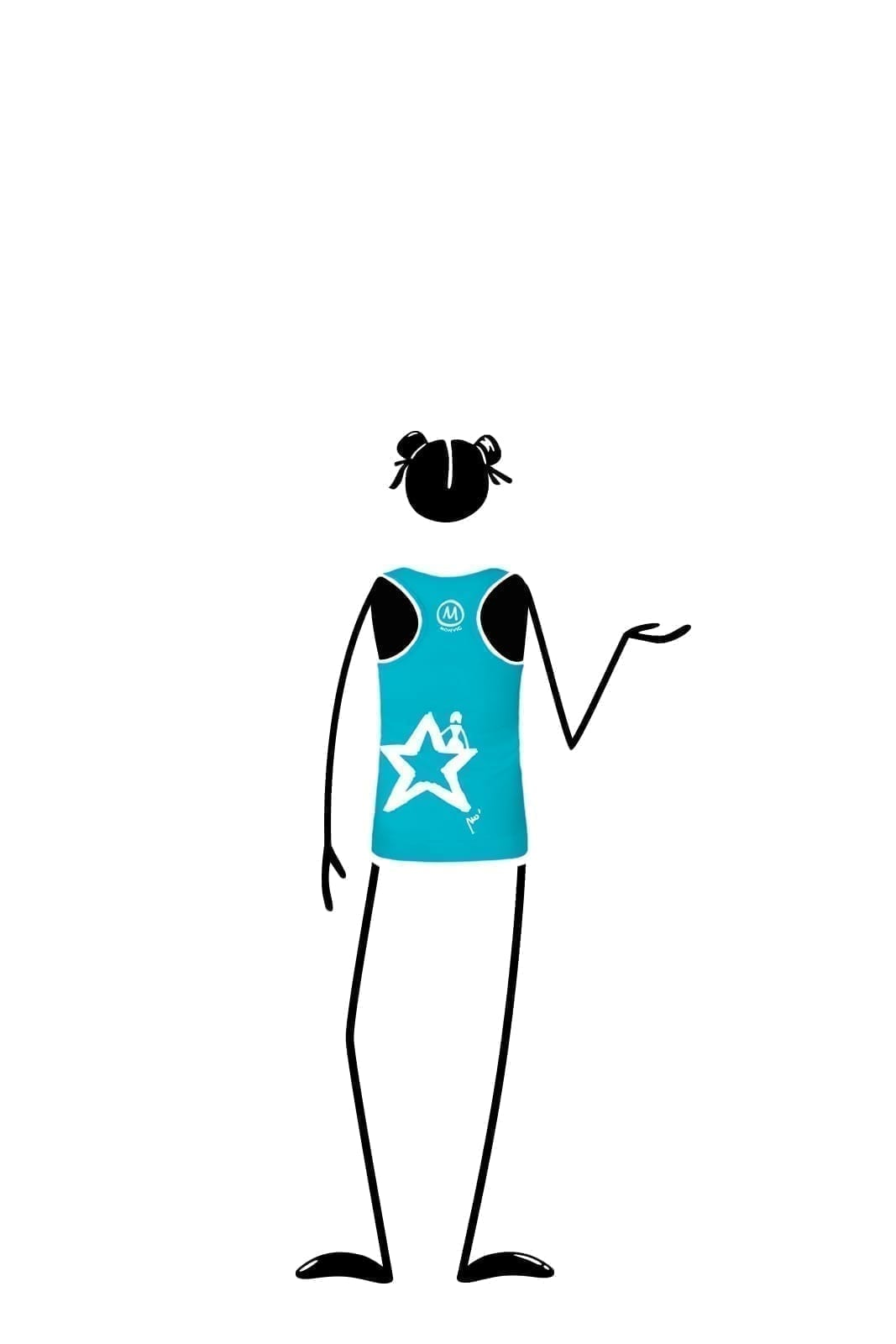 tank top kids turquoise SUSY Monvic